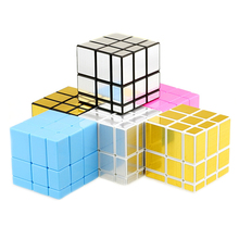 Shengshou Mirror Blocks Cast Coated 3x3x3 Magic Cube Speed Puzzle Cubes Educational Toys for Children Kids