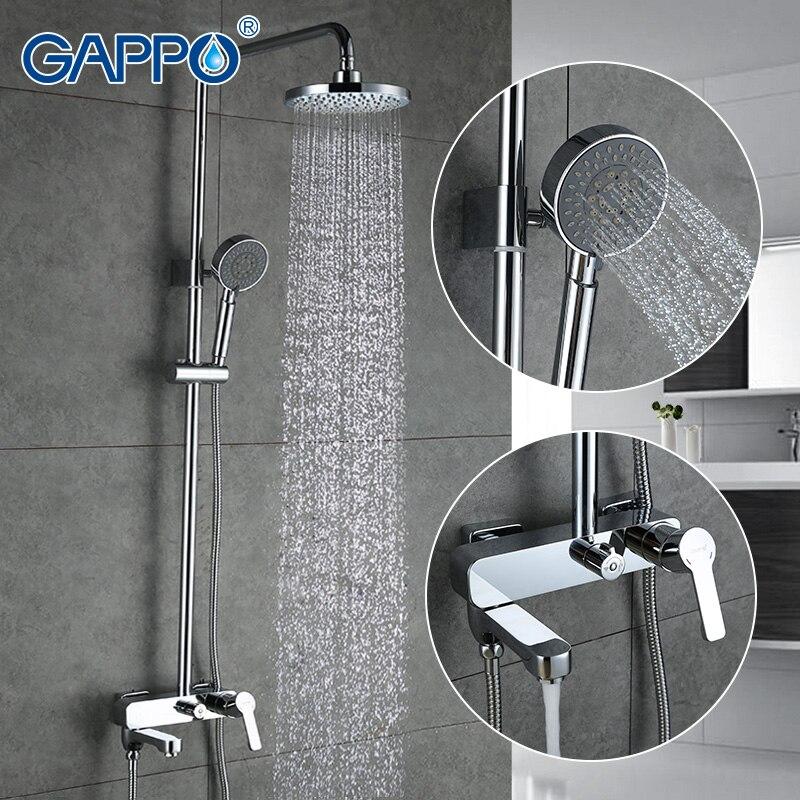 GAPPO torneira da banheira do banheiro conjunto torneira do chuveiro cachoeira chuva chuveiro banheira mixer torneira do chuveiro torneira da Banheira torneira Do Chuveiro