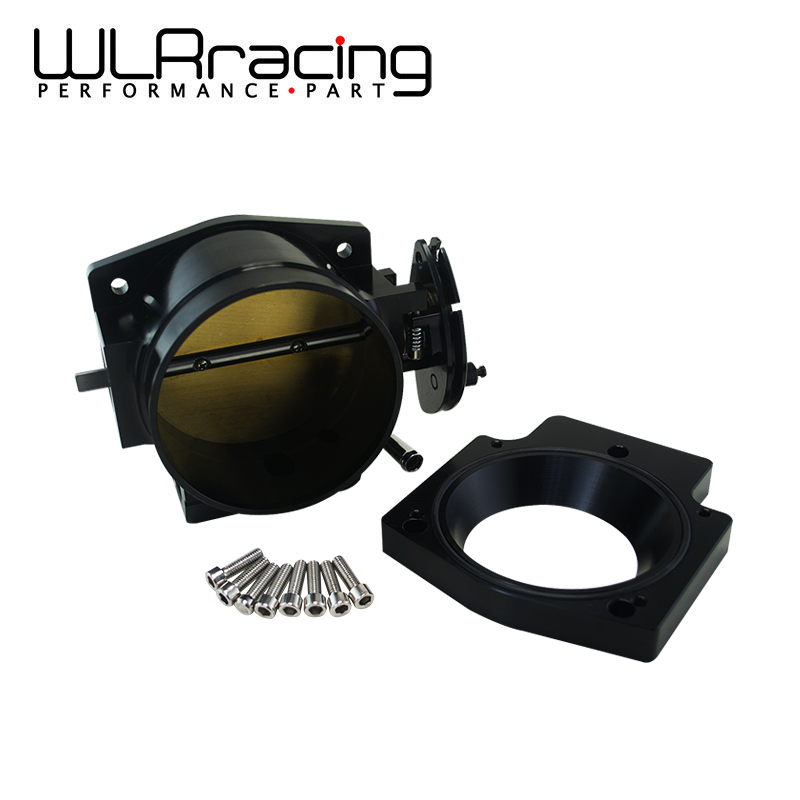 WLRING STORE- 102mm Throttle Body +Manifold Adapter Plate for LS LS2 LS3 LS6 LS7 LSX BLACK WLR6938+TBS51