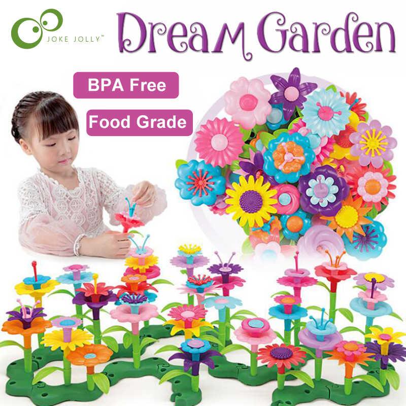 46 pz/set FAI DA TE Pop Perline Fiori Giocattoli per le Ragazze Dei Bambini di Fiore Disposizione Giocattolo di Assemblaggio Giardino Giocattoli Educativi Per I Bambini GYH