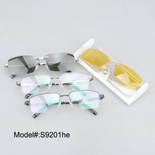 S9201 new style free shipping high quality  star clip on sunglasses with night vision clip on  UV400 sunshade