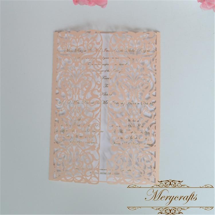 Swirls stencil scroll door gate folded wedding invitation laser cut ...