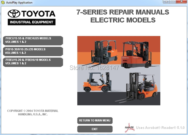 forklift 7 series repair manuals for toyota in code readers scan rh aliexpress com Toyota 7HBW23 Toyota 7HBW23