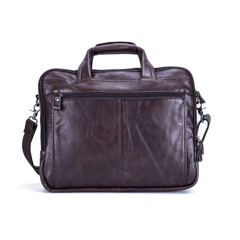 100% echtem Leder herren Aktentaschen für Männliche Business Handtaschen Kausalen Laptop Taschen Messenger Taschen Große Reise Computer Tasche