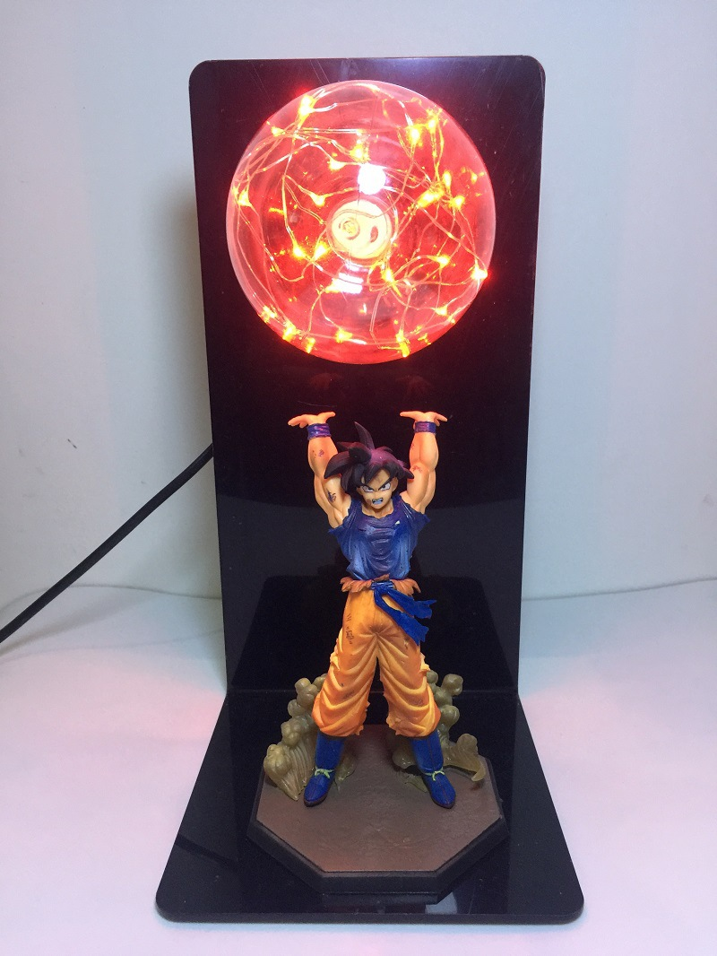 Action Figure Dragon Ball Super Goku Strength bombs Creative Table Lamp LED Kid Holiday Gifts Night Light Collection Model Toys