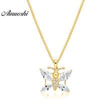 AINUOSHI 10K Solid Yellow Gold Pendant Brilliant Bees Pendant Marquise Cut  SONA Diamond Women Men Jewelry Separate Pendant 2c035f52a81d