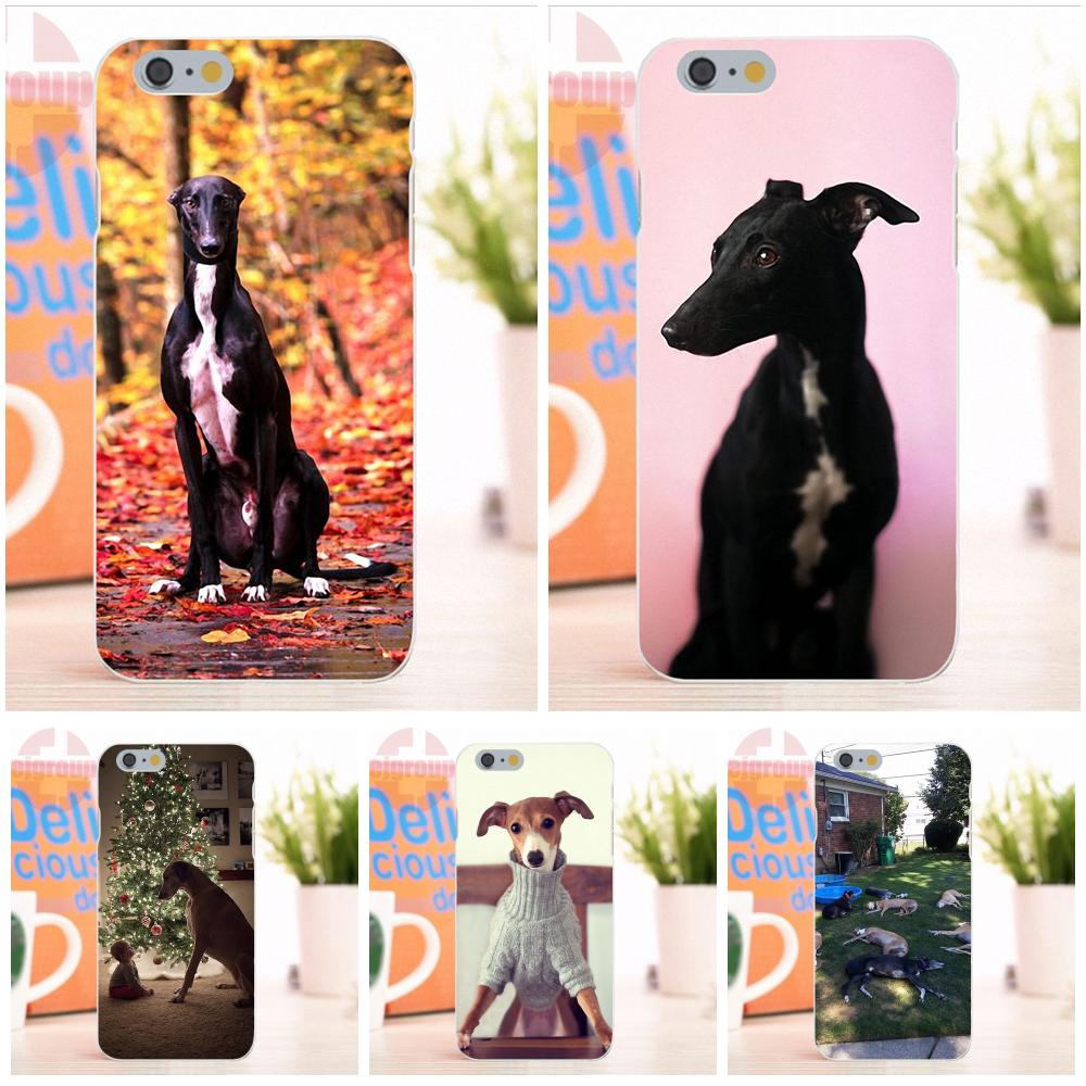 EJGROUP Soft Silicone TPU Transparent Phone Case Greyhound Dog Puppy Puppies For Apple iPhone 4 4S 5 5S 5C SE 6 6S 7 8 X Plus