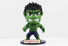 New Arrival High Quality Boxed Marvel Super Heroes The Avengers Toy Cute Version The Hulk PVC Action Figure For Kids