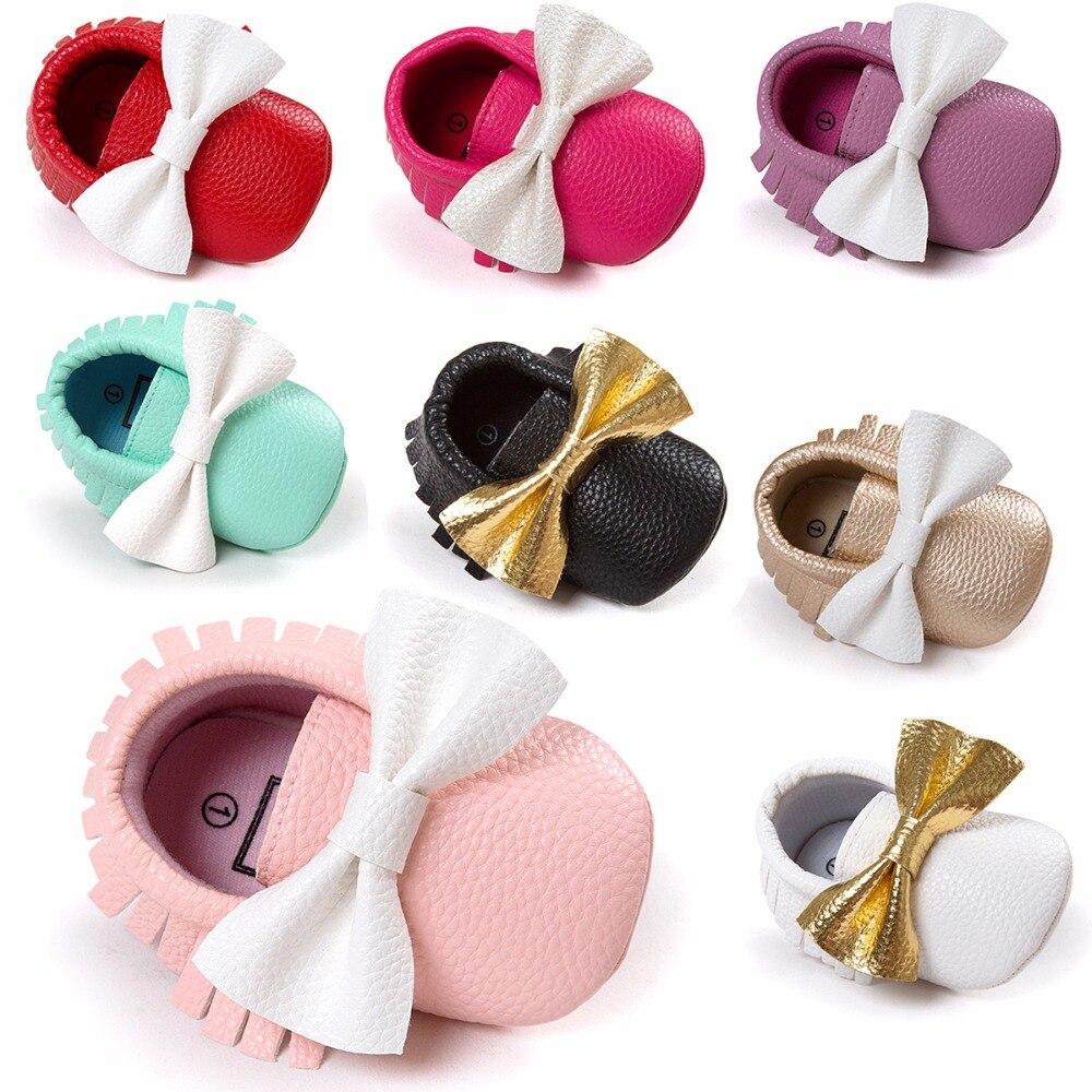 0 - 18 bulan sepatu bayi, Bawah lembut PU kulit sepatu balita, Bayi yang baru lahir mokasin, Bayi perempuan anak laki-laki sepatu buaian, Bayi pejalan kaki pertama