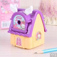 Deli Fashion Pencil Sharpener Art Shake Kawaii Stationery School New Year Gift For Kid House Stones