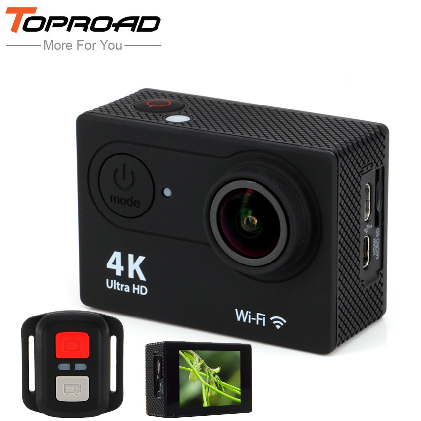 "Ultra HD Mini Camcorders Upgrated 4K H9R WIFI Action Camera Remote Control Sport deportiva 1080P 170 Lens 2"" LCD Helmet Cam"