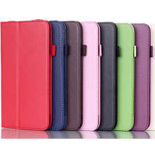 ocube Luxury 2-Folder Litchi Grain PU Protective Shell Leather Cases Cover For Lenovo IdeaTab A3000 7 Inch Tablet