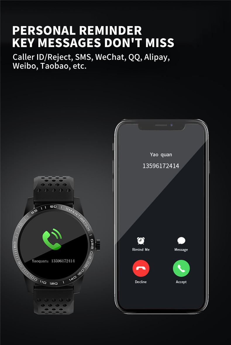 Lerbyee Smart Bracelet T2 Waterproof Blood Pressure Fitness Tracker Watch Call Reminder Sleep Monitor Smart Band for Android IOS 14