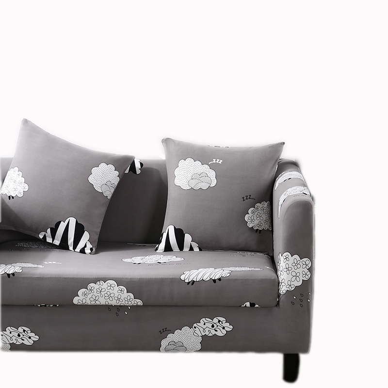 cute sheep Stroke light grey sofa cover with elastic Stretch Sofa