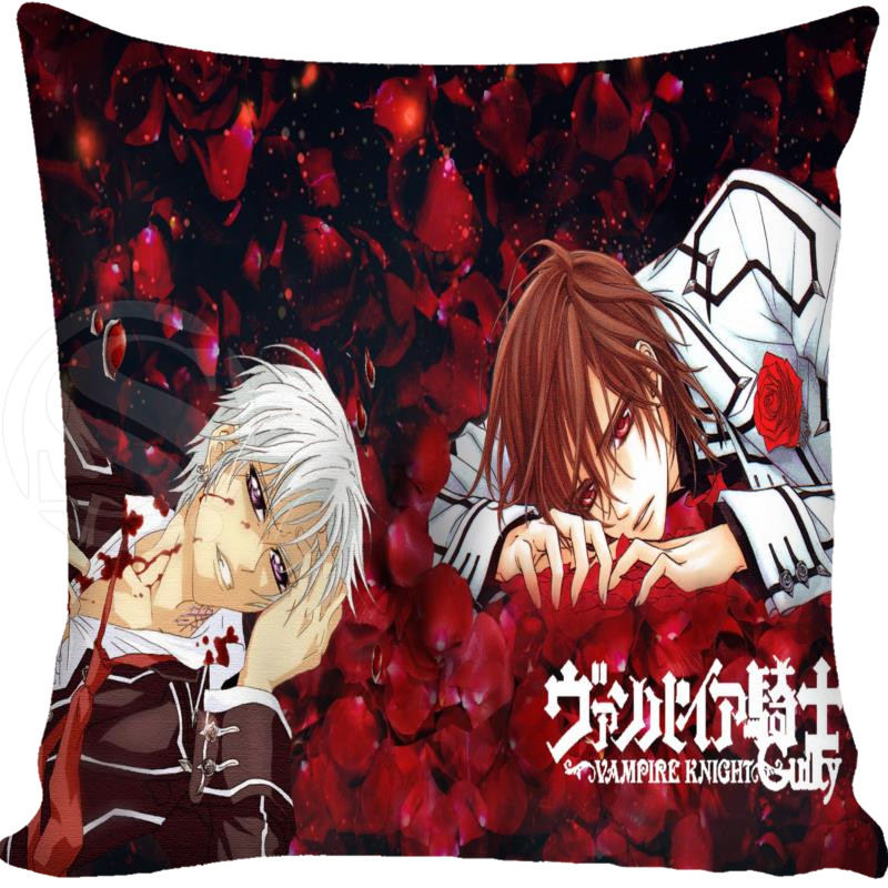 custom product Custom Pillowcase Cover vampire knight square zipper Pillow Cover Best Gift For Friend 20x20cm,35x35cm(one side)