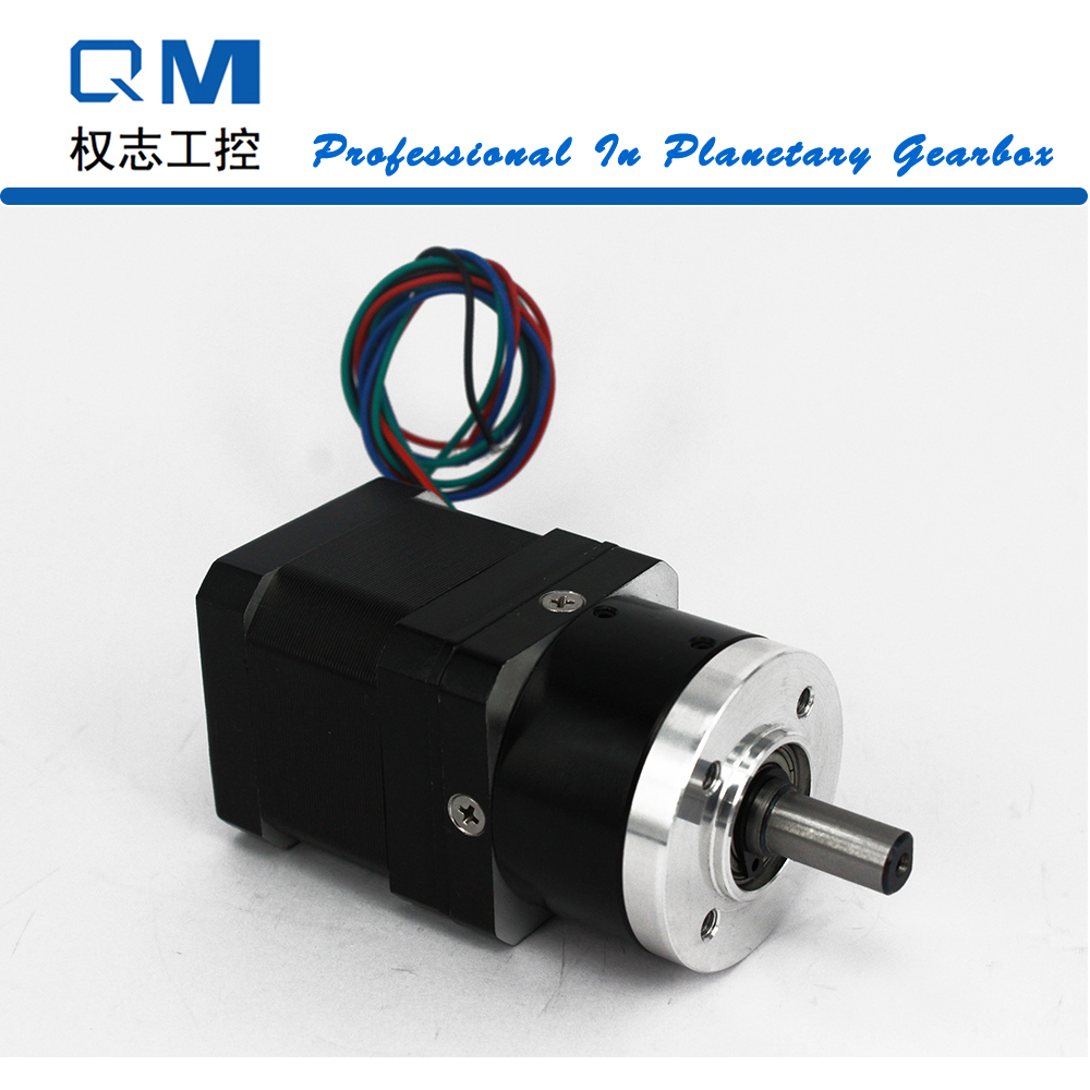 Nema 17 geared stepper motor L=40mm planetary  gearbox ratio 4:1      cnc robot pump high precision 2 phase stepper driver md2504 fit nema 17 23 motor 18 90vdc out 1 0a 4 5a cnc robot pump