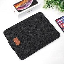 Suede Tablet Protection Case Laptop Bag e-Books Case Pouch L