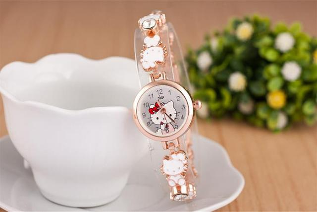 b175548d94be Hot Sale Girls  Bracelet Wristwatches Hello Kitty Fashion Watch Birthday  Gift For Girlfriend montre femme