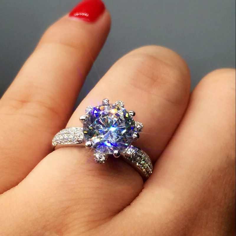 Choucong 2017ประกายดอกไม้แหวน3ct AAAAAเพทายcz Rose G Old 925เงินสเตอร์ลิงหมั้นแหวนแต่งงานวงสำหรับผู้หญิง