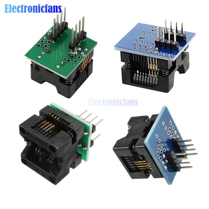 2Pcs SOIC8 SOP8 to DIP8 EZ Programmer Adapter Socket