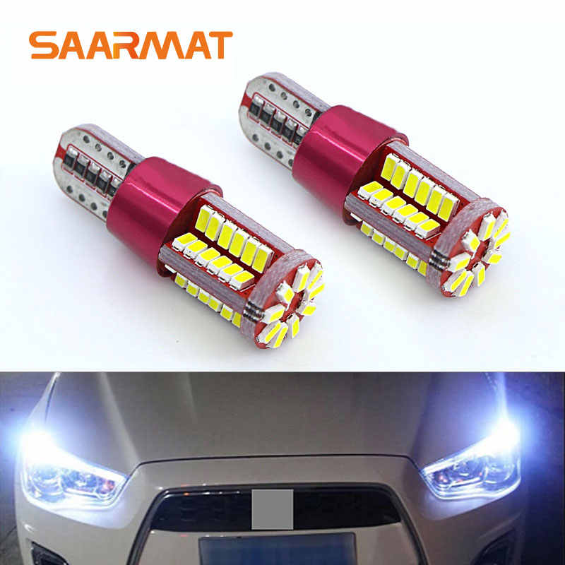 2x  T10 W5W  LED Bulbs 57smd w/ Samaung Chips For Parking City Position Lights Clearance Lamp White Red Crystal Blue