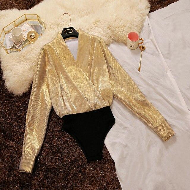 2018 spring new female deep V-neck Cross-Blouse pleated bat sleeve sexy jumpsuit shirt vintage shirts women blouses