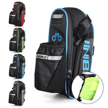 Bicycle Saddle Bags Waterproof MTB Road Bike Cycling Seatpost Bags Reflective Bottle Bag Hang Taillight With Rain Cover