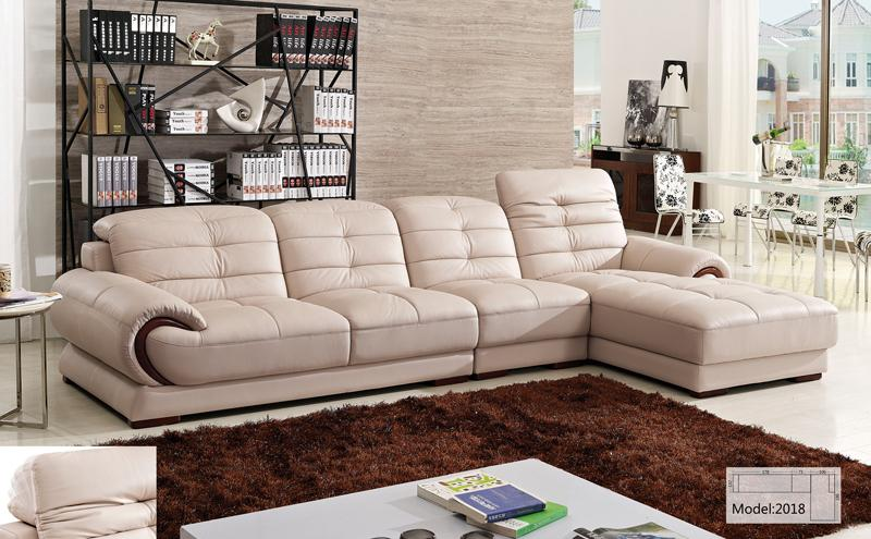 Free Shipping Classical Furniture Hot Sale L Shaped Corner Sofa With Chaise Lounge Smart Living Set 2018