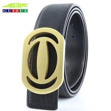 New Arrival GUIZUE High Quality G Brass Buckle Belts for Women Jeans Luxury Brand design H Men Belt GG Genuine Leather Strap