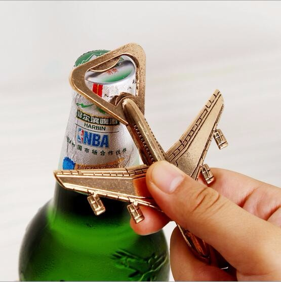 DHL free shipping 100pcs/Lot New Airplane Bottle Opener Adventure Wedding Favor Gift Aircraft Bar Beer Wine Kitchen Tools image
