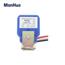 ManHua 220VAC AS-06 For Street Light  Photoelectric Switch Automatic On Off Photocell Sensor Switch 10pcs photocell light 220v 10a waterproof photo control photoswitch sensor switch used in highway garden street automatic on off
