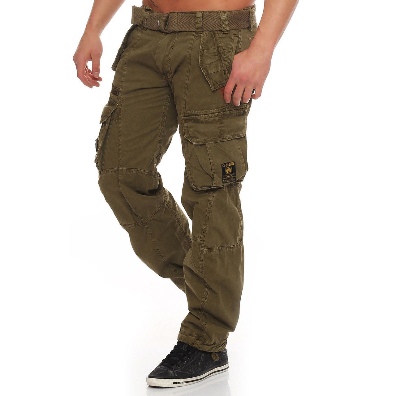 2019 Neue Europäische Und Amerikanische Mode Männer Hosen Fitness Schlank Sport Casual Taschen Feste Nähte Herren Kleidung Mangelware