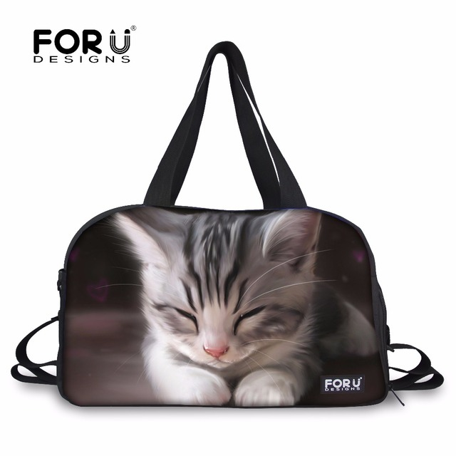 FORUDESIGNS Cat Cute Travel Bags Luggage