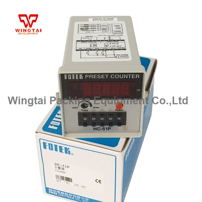 цена HC-51P Original Taiwan Fotek Preset Counter/Digital Counter/Electronic Counter