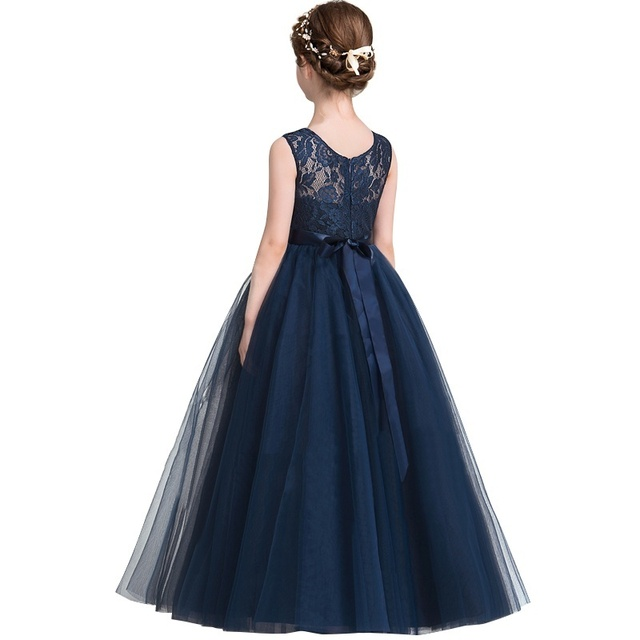 809f2921f Children Princess Dress Girl Party Wear Fancy Kids Long Tulle Dress For  Girl Flower Wedding Gown Baby Girl Clothing 5 8 10 Years