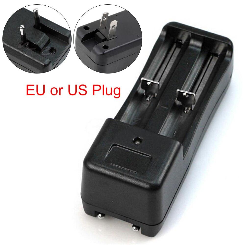 All purpose Portable Dual Slot DC 3 7V Wall Charger for 18650 16430 14500 Li ion