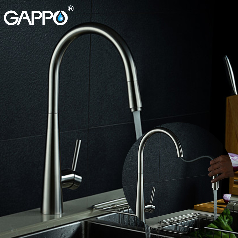 GAPPO stainless steel kitchen faucets pull out kitchen sink faucet water mixer taps torneira cozinha Kitchen sink tap цена