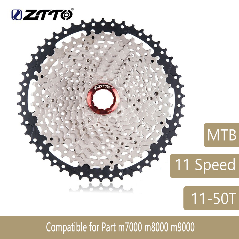 все цены на MTB 11 Speed Cassette 11s 11-50T L Mountain Bike Freewheel Wide Ratio for parts m7000 m8000 m9000 SUNRACE Bicycle Parts ZTTO онлайн
