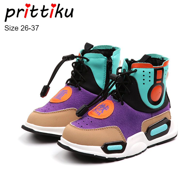 Autumn 2018 Girls Boys Hot Fashion Sneakers Children Genuine Leather Casual Trainers Toddler/Little/Big Kid Designer Brand Shoes winter 2018 girls boys plaid high top plush warm lined sneakers baby toddler little kid casual trainers children lace up shoes
