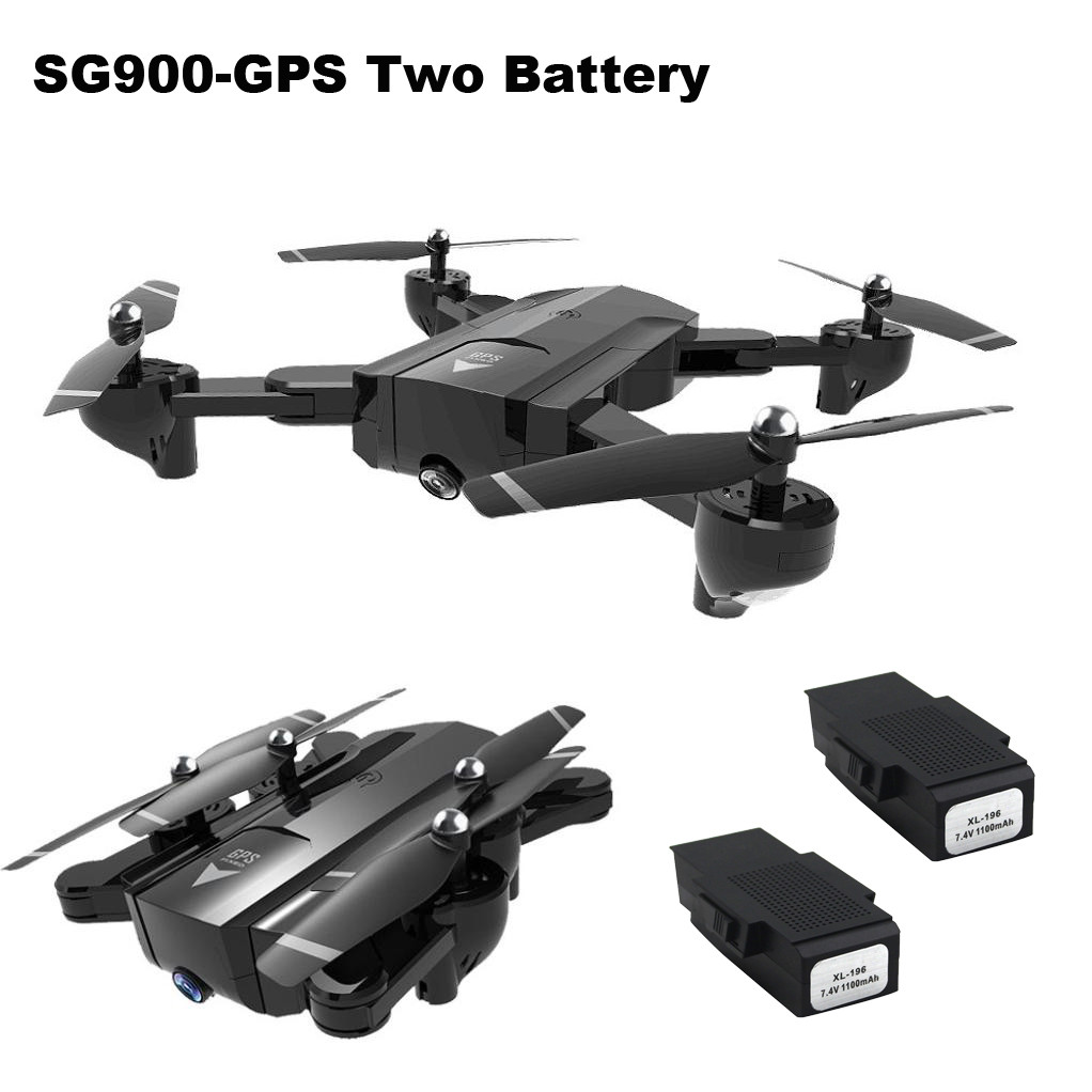 SG900 Foldable Quadcopter with Camera 2.4 GHz Full HD Camera WIFI FPV GPS Fixed Point Drone RC Helicopter Drone with Camera HD ky601 wifi fpv rc drone foldable quadcopter with hd camera