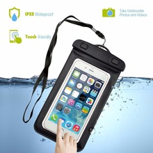 For iPhone 7 6 6s plus 5 5s Samsung galaxy S7 S6 edge NOTE 8 XIAOMI LG Sealed Waterproof Underwater Mobile Phone Bag Pouch Case