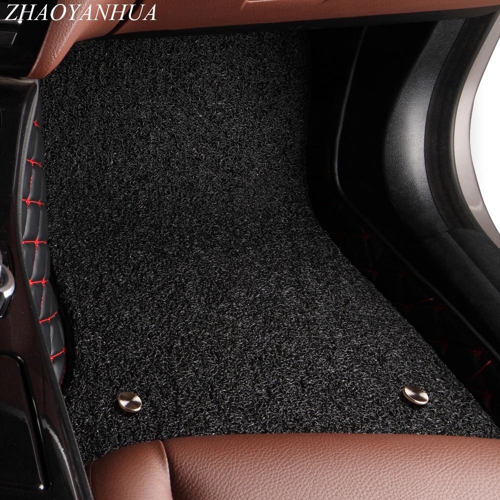 ZHAOYANHUA Car floor mats for Peugeot 206 207 2008 307 308sw 3008 408 4008 508 rcz car styling carpet floor liner