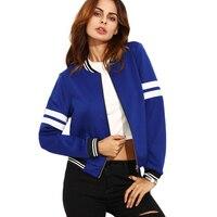 Fashion Autumn Winter Long Sleeve Harajuku Women Basic Coat Bomber Baseball Jacket Female Lady Outerwear Clothing