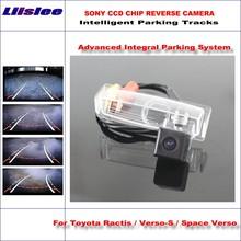 цена на Liislee Rear Reverse Rear Camera For Toyota Ractis / Verso-S / Space Verso / HD 860 * 576 Pixels Intelligent Parking Tracks