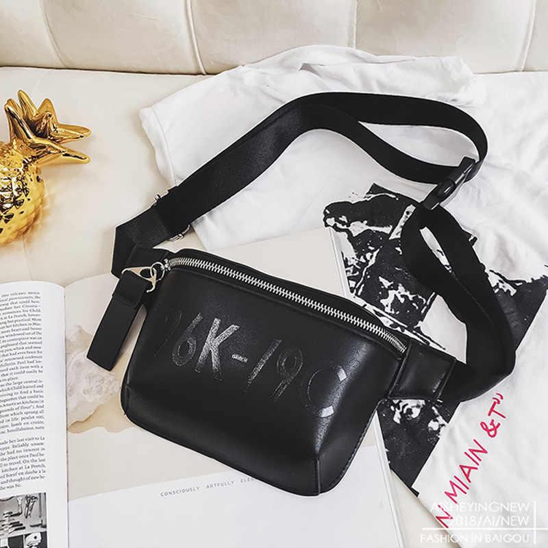 CCRXRQ ウエストバッグ女性 2019 新ブランドブラック Pu レザーウエストパックファッション女性ファニーパック便利なベルトバッグ女性の胸バッグ