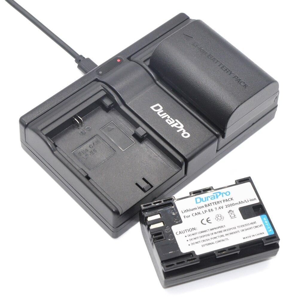 2pcs Batteries Li-ion 2000mAh <font><b>LP</b></font>&#8211;<font><b>E6</b></font> LPE6 <font><b>LP</b></font> <font><b>E6</b></font> Battery+Battery <font><b>Charger</b></font> For Canon EOS 5ds 5d Mark II iii 6d 7d 60d 60da 70d 80d