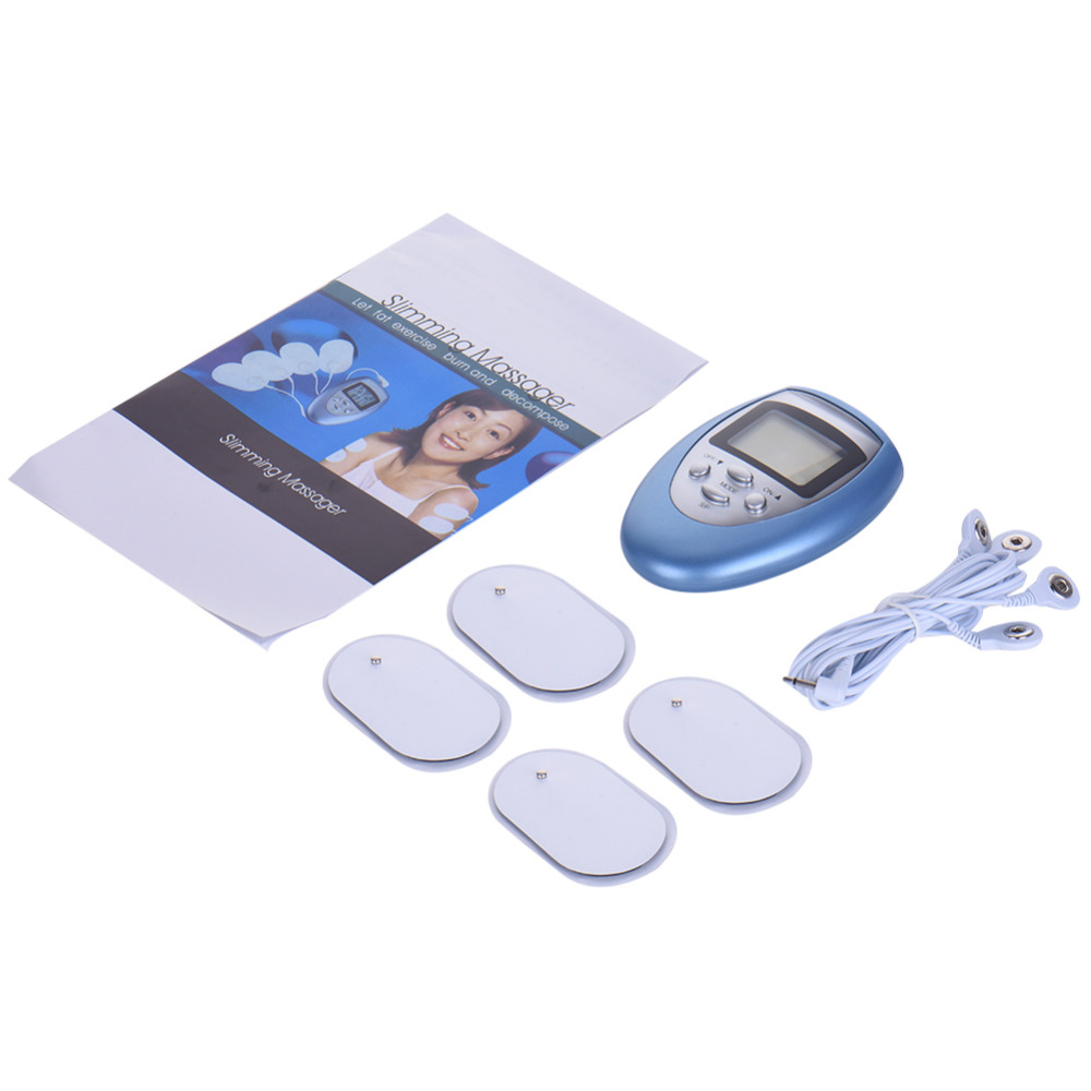 Shock Therapy Digital Therapy Machine Full Body Massager Pain Relief Fitness Electro Kit E-Stimulation beauty Fitness Massage 2017 hot sale mini electric massager digital pulse therapy muscle full body massager silver