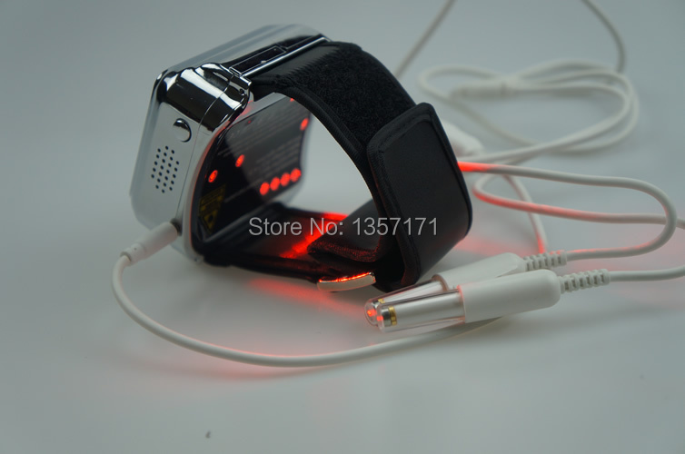 Medical bio low level laser therapy hypertension diabetes treatment equipment wrist type watch low level laser light therapy hemodynamic metabolic wrist type pulse laser