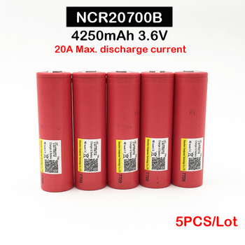 Discharge Battery ncr20700 100% Origina Turmera 20700 battery 5PCS mod ncr20700b 20A 4250mAh with 20A Battery for Vape Mod  oct8