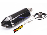 Inlet 2 Inch 51mm Carbon Fiber Motorcycle Exhaust Muffler Pipe Akrapovic Motorbike Muffler Exhaust Pipe Escape
